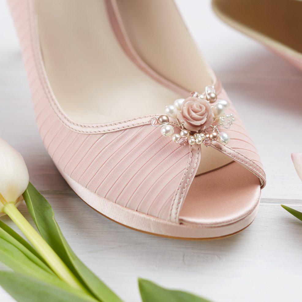Flora Wedding Shoe Clips