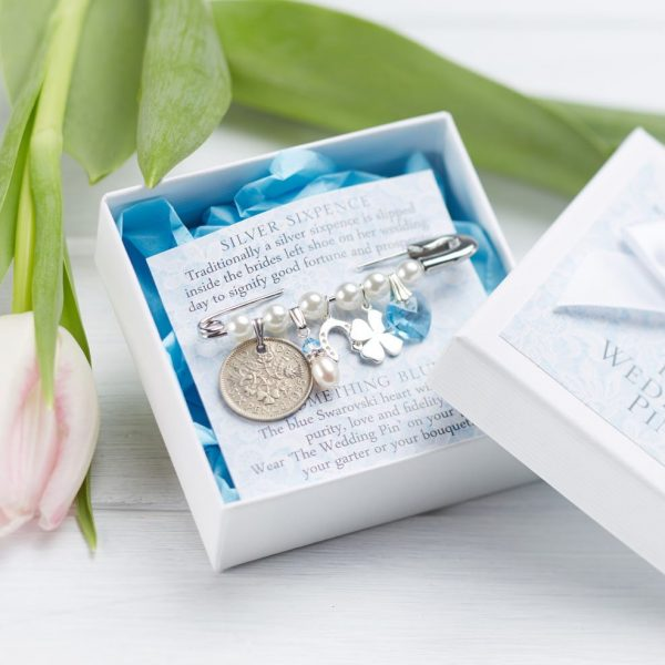 The Wedding Pin Silver Sixpence Bridal Gift