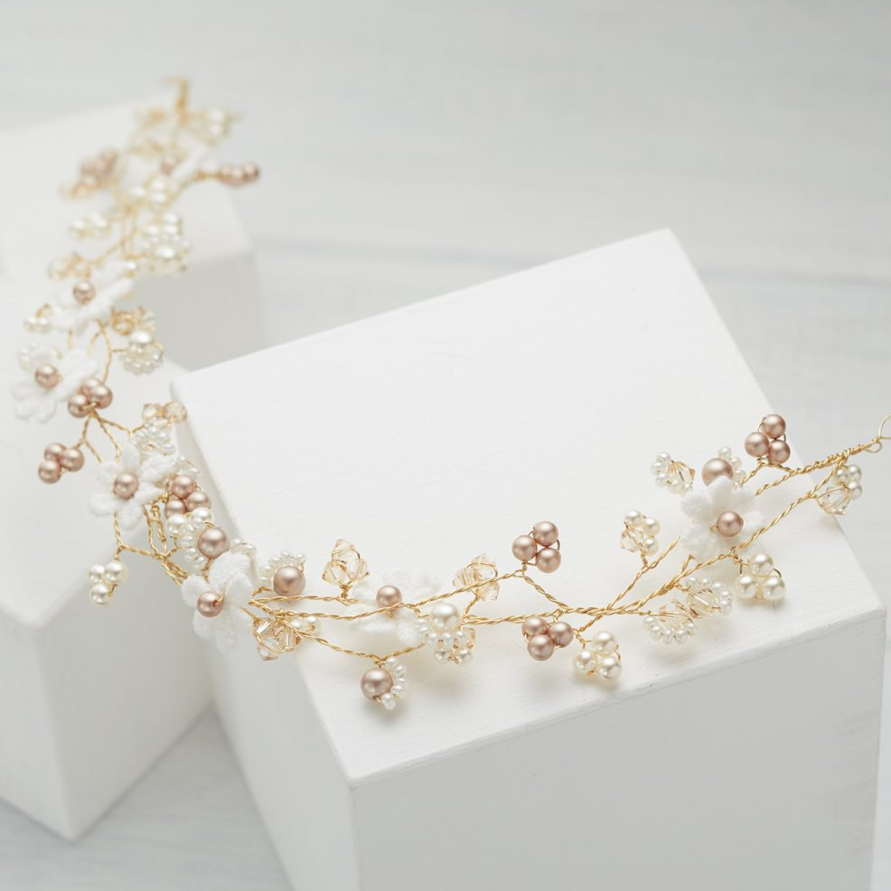 Lace Daisy Wedding Hairvine