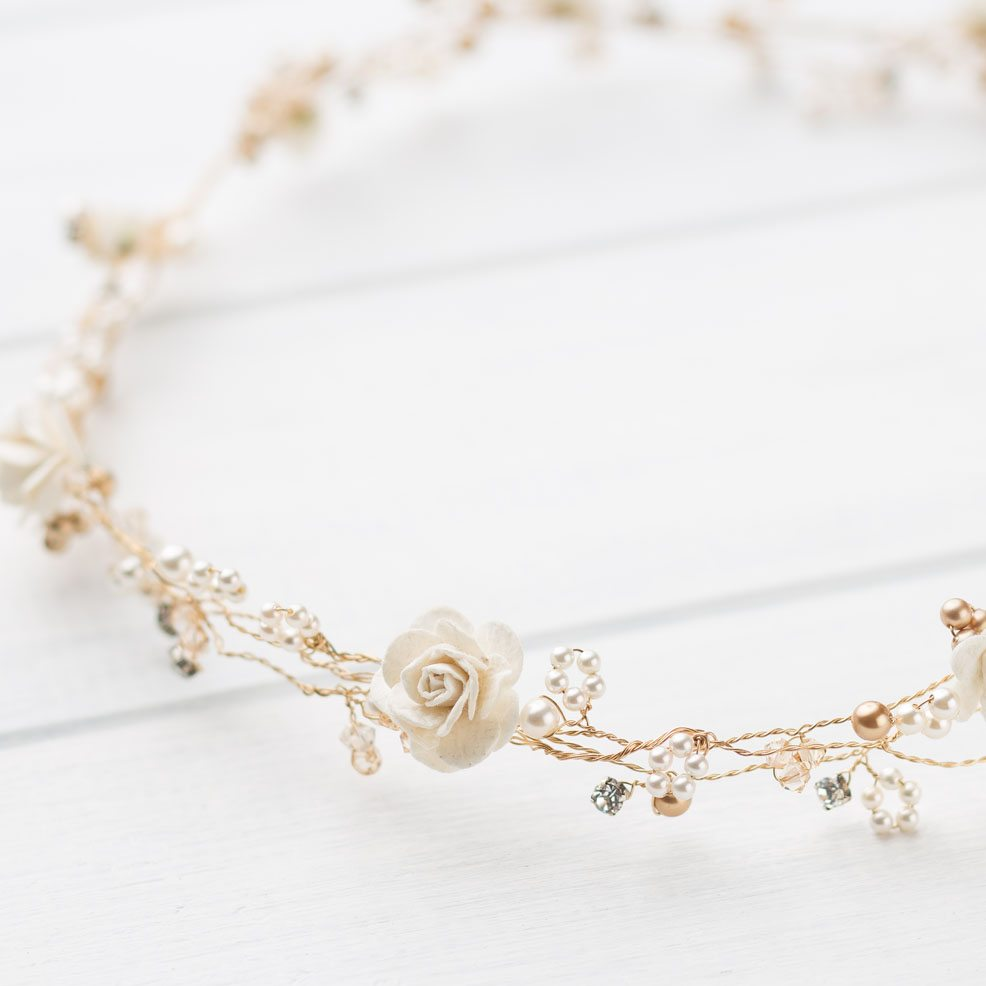 e3a320ff1ae32 Rose Wedding Circlet