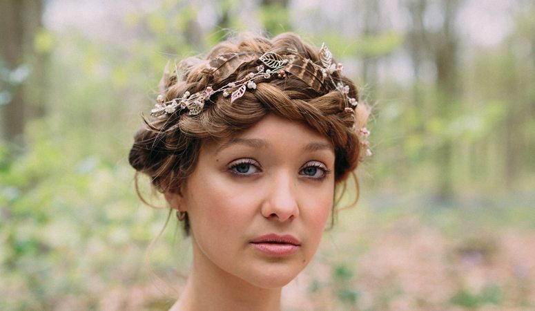 Lauren Wedding Hairvine Rose Gold