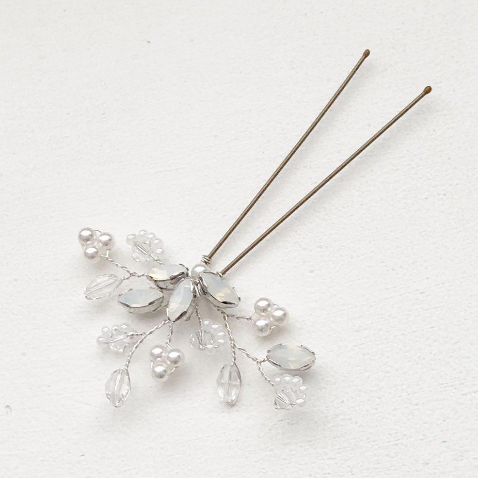 Felicity Opal Hair Pin Swarovski Crystals