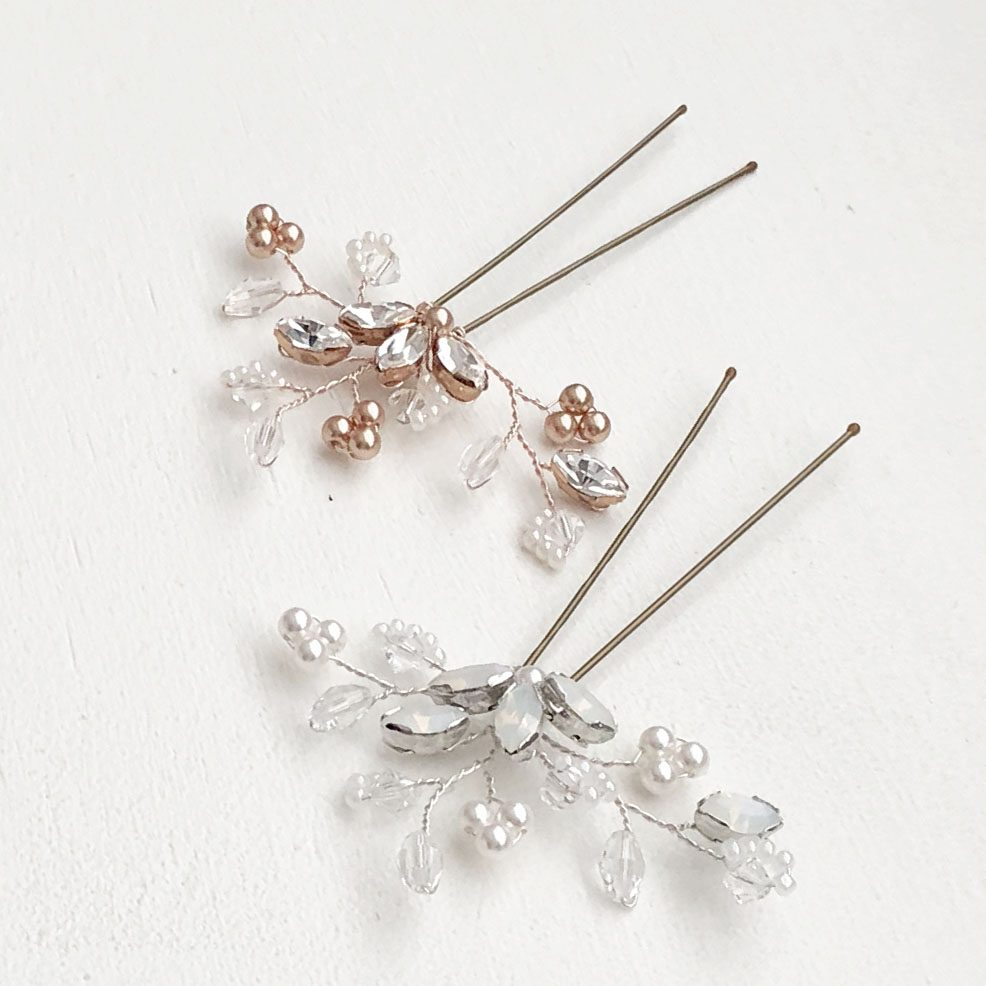 Felicity Hair Pin Opal Crystals