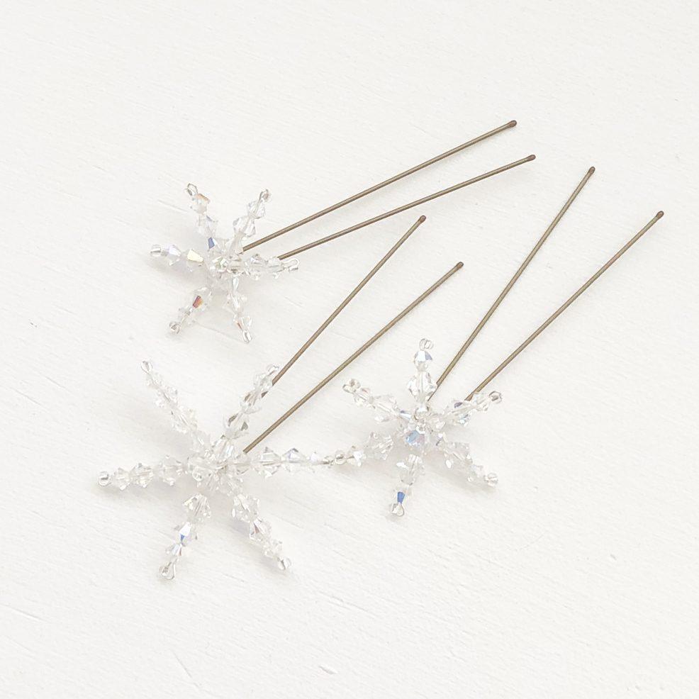 Swarovski-crystal-snowflake-hair-pins